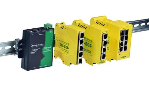 Industrial Ethernet Switches DIN Rail, Redundant Power and Wide Op Temp