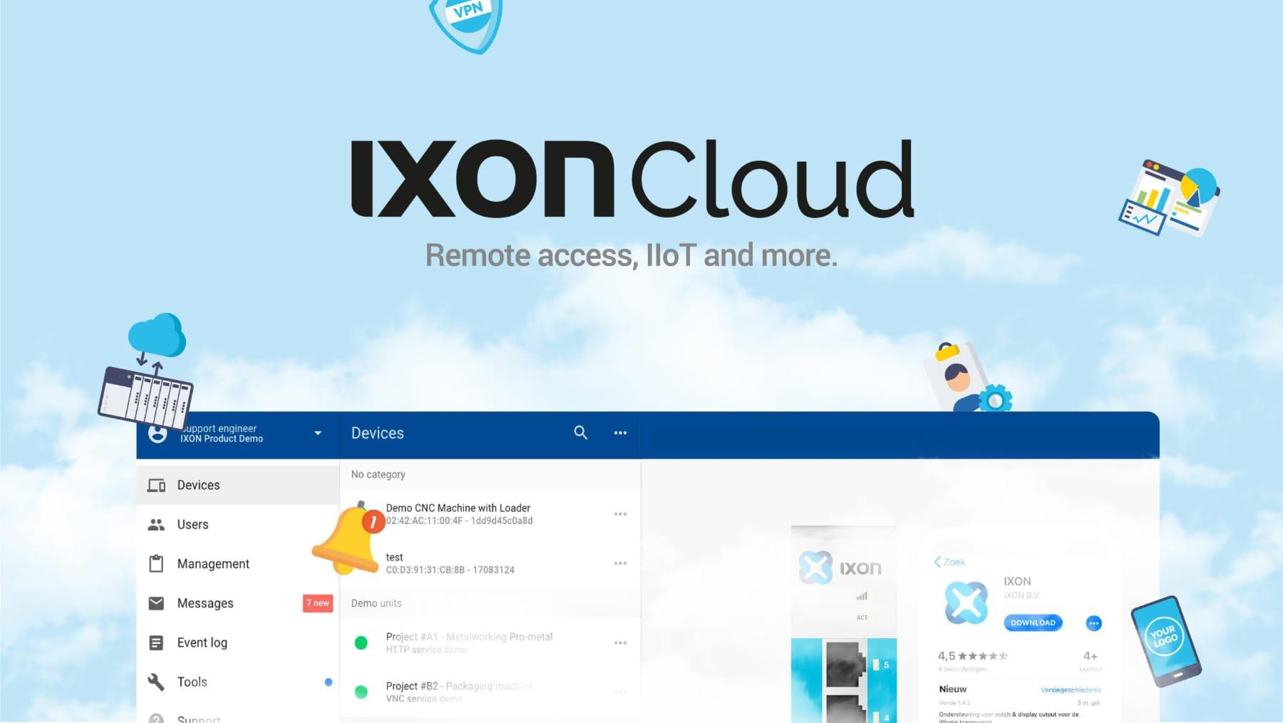 IXON Cloud - Remote Access, IoT and more..